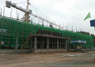 建设中的永靖县第九中学教学楼