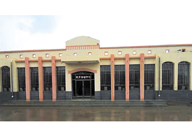 公司承建的会宁县汉岔中学实验楼(建筑面积1860平方米).