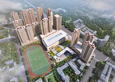 公司承建的甘肃宇臻集团陇西物流园项目效果图